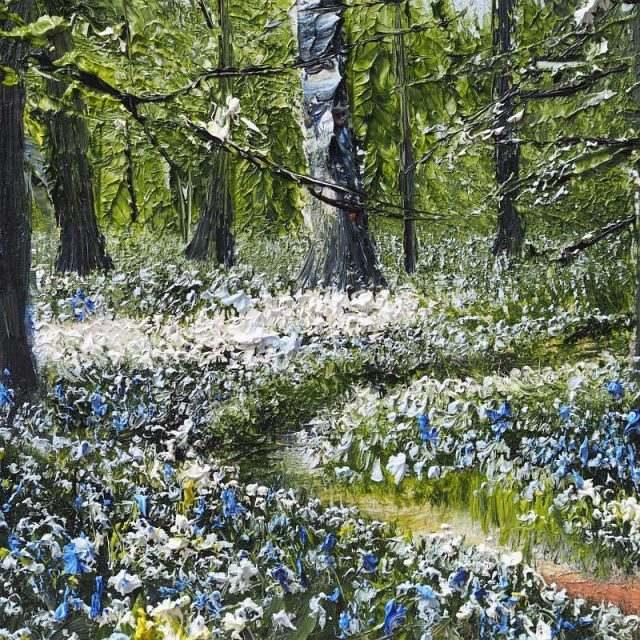 Wild Garlic & Bluebells - Mark Eldred