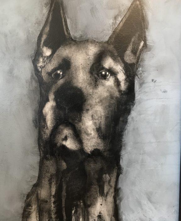 Startled Dane II - Heidi Wickham - Kilbaha Gallery