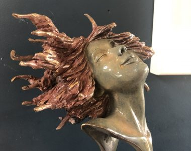 Adil Vezir 'Windswept' in bronze Kilbaha Gallery