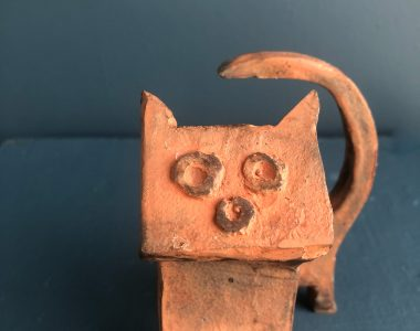 Bronze cat tiny
