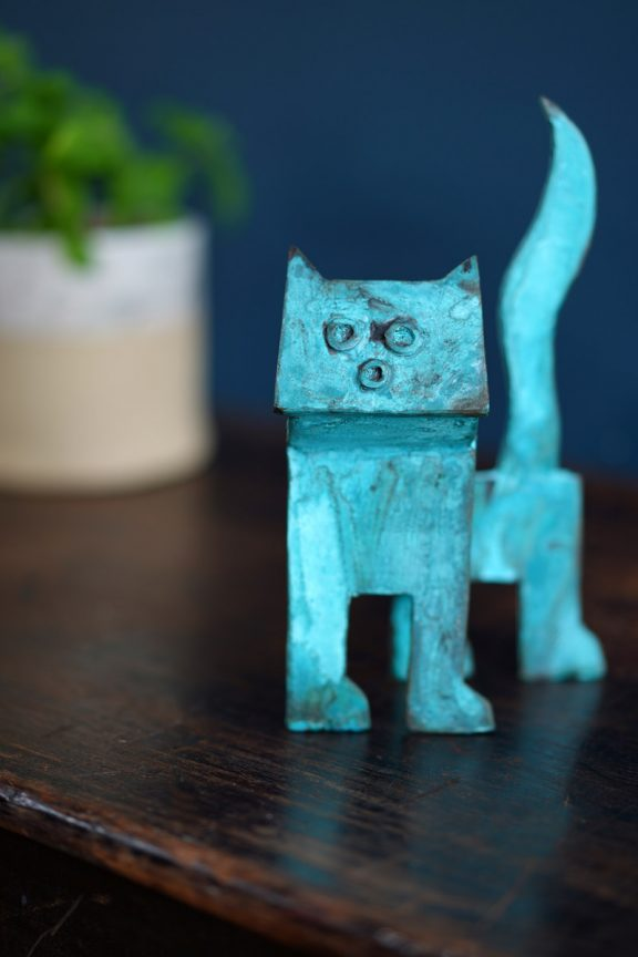 Bronze Cat by Seamus Connolly for Kilbaha Gallery