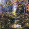 Late Autumn Woodland by Mark Eldred for Kilbaha Gallery