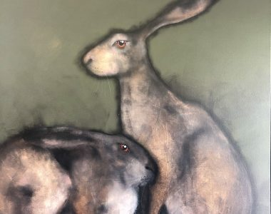 Hares by Heidi Wickham for Kilbaha Gallery