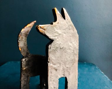 Bronze Dog by Seamus Connolly for Kilbaha Gallery
