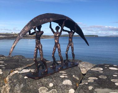 Clodagh Redden Bronze Curragh for Kilbaha Gallery