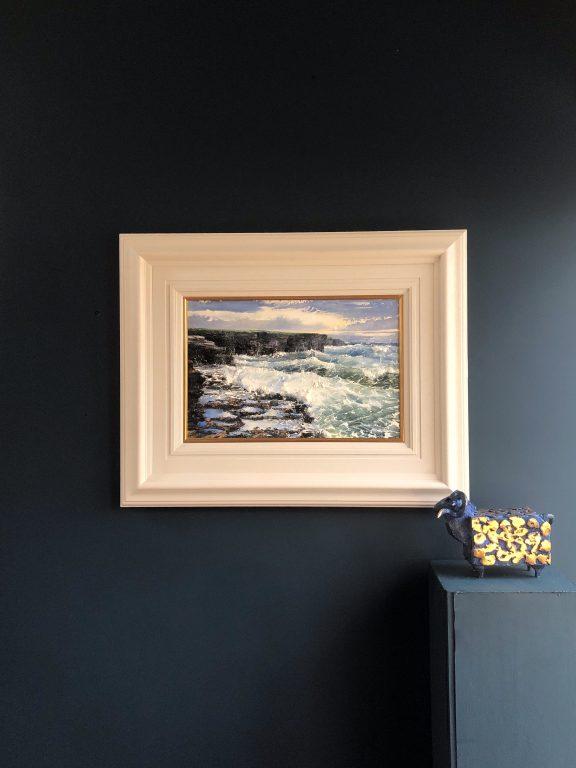 Turbulent Seas on Loop Head by Mark Eldred for Kilbaha Gallery