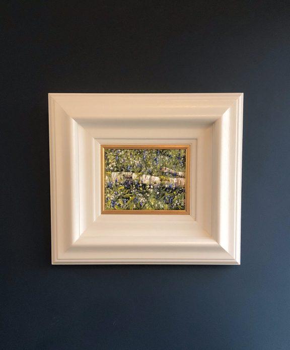 Fallen Birch, Wild Garlic and Bluebells II by Mark Eldred for Kilbaha Gallery