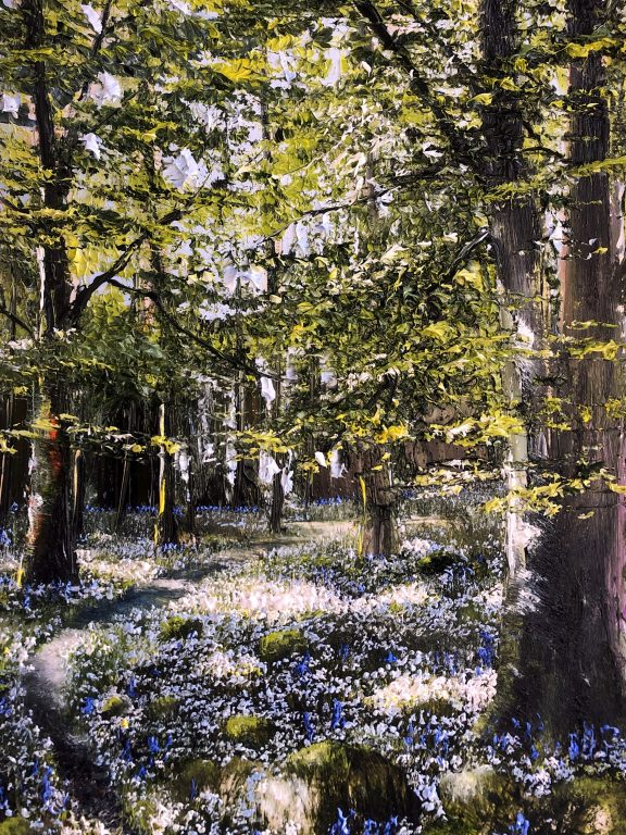 Bluebells and Wild Garlic by Mark Eldred for Kilbaha Gallery