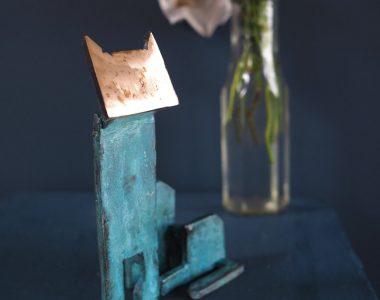 Bronze Cat by Seamus Connolly for Kilbaha Gallery Buy Irish Art Online