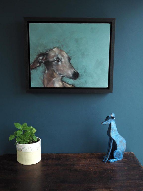 Dog on Green by Heidi Wickham for Kilbaha Gallery Buy Irish Art Online
