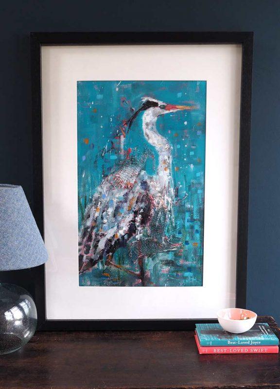 Heron by Danny Smith for Kilbaha Gallery Buy Irish Art Online