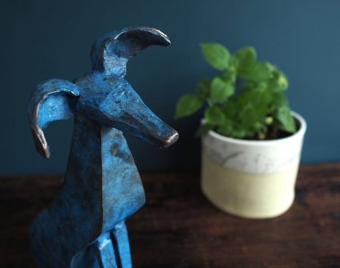 Bronze Whippet by Seamus Connolly for Kilbaha Gallery Buy Irish Art Online