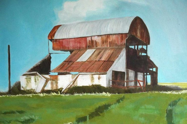 Moyarta barn by Ruth Wood for Kilbaha Gallery