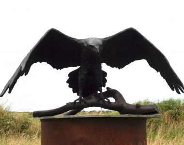 Bronze Raven by Adam Pomeroy for Kilbaha Gallery Buy Irish Art Online