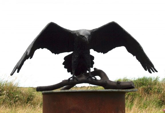 Bronze Raven by Adam Pomeroy for Kilbaha Gallery Buy Irish Art Online