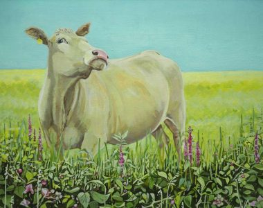 Posing Blonde Bullock by Ruth Wood for Kilbaha Gallery
