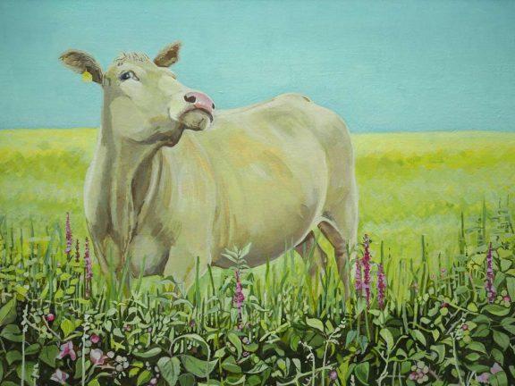 Posing Blonde Bullock by Ruth Wood for Kilbaha Gallery