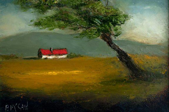 hidden cottage by Padraig McCaul for Kilbaha Gallery Buy Irish Art Online