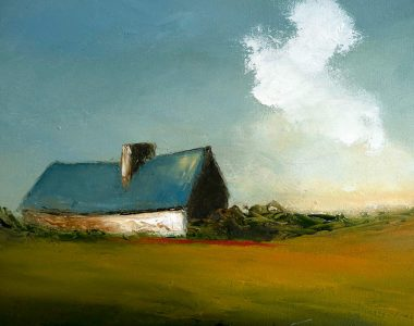 Blue Cottage Padraig McCaul Kilbaha Gallery Buy Irish Art Online