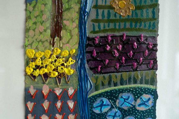 Waterfall Garden - Carmel Madigan for Kilbaha Gallery - buy Irish Art