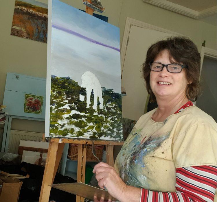 Pauline Dunleavy in her studio in West Clare