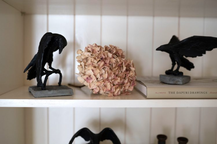 bronze ravens by Adam Pomeroy for Kilbaha Gallery