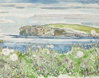 Large - Georges Head Kilkee - Pen & Ink - Ruth Wood