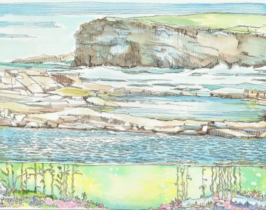 The Pollock Holes Kilkee Ruth Wood Pen & Ink 2020