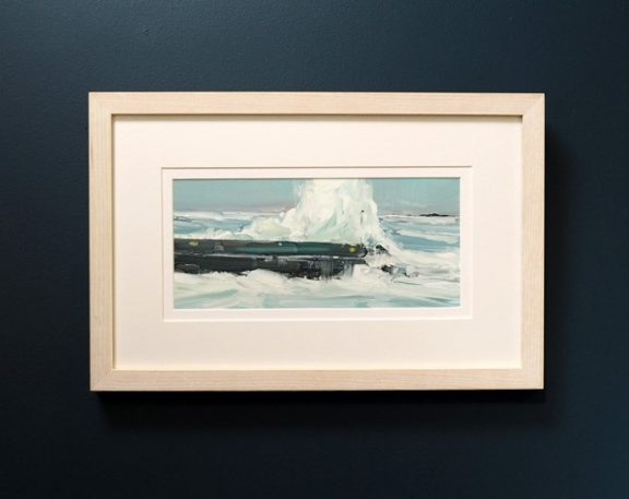 Storm Emma Doolin Pier by Kaye Maahs for Kilbaha Gallery Buy Irish Art Online