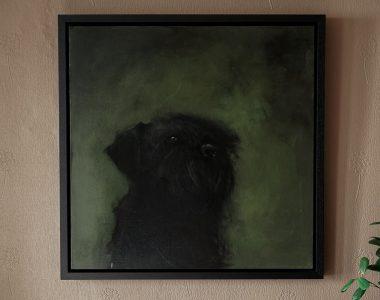Small Dog on Green by Heidi Wickham for Kilbaha Gallery